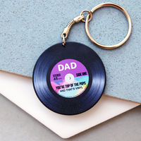 Vinyl 'Top Of The Pops' Father's Day Keyring