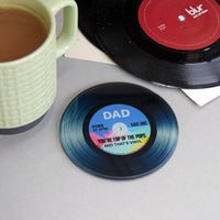 'Top Of The Pops' Glass Coaster For Dad