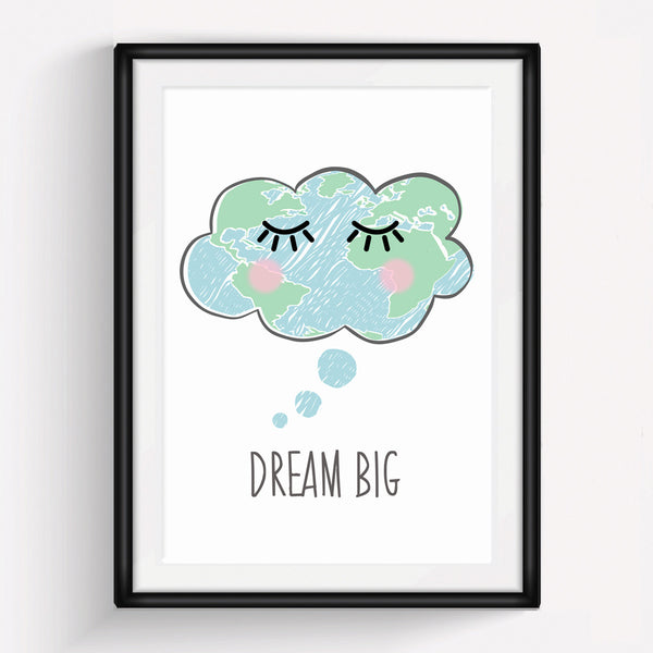 'Dream Big' Children's Print