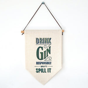 'Drink Gin' Wall Flag-Of Life & Lemons®