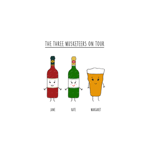 Personalised Friends as Drinks Print-A4 Print-Of Life & Lemons®