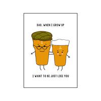 Funny Beer Card for Dad-A4 Print-Of Life & Lemons®