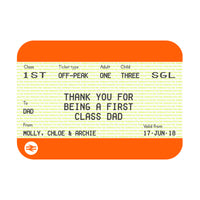 Personalised Train Ticket Father's Day Card-Of Life & Lemons®