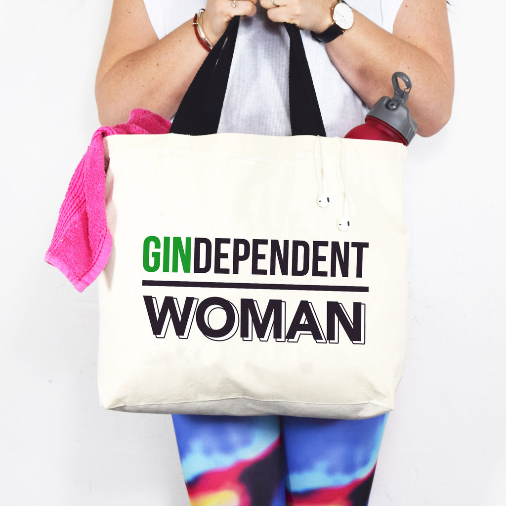 'Gindependent Woman' Tote Bag-Tote Bag-Of Life & Lemons®