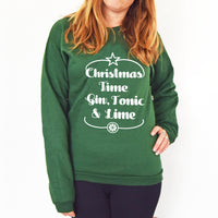 'Gin & Tonic' Unisex Christmas Jumper-Tote Bag-Of Life & Lemons®