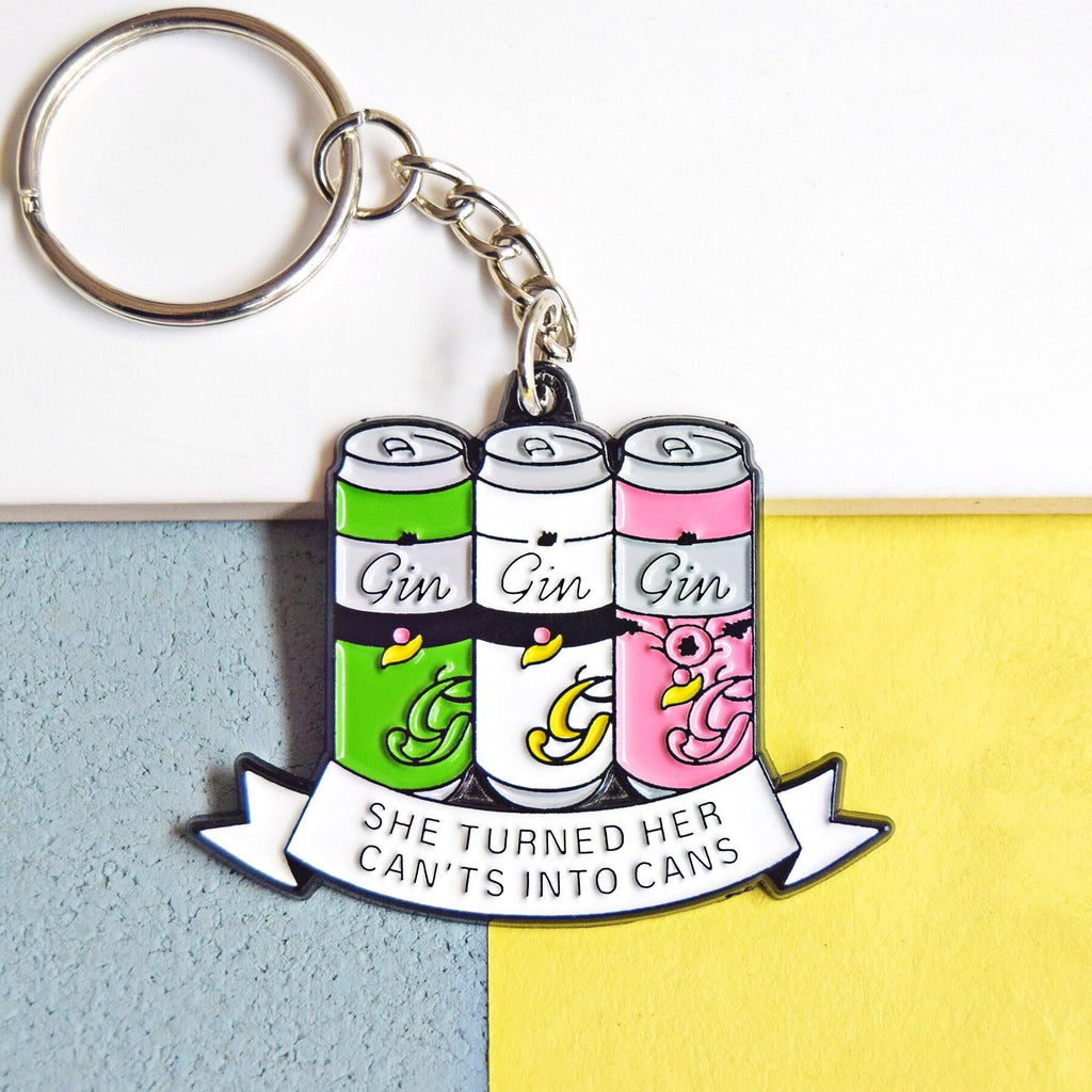 'She Turned Her Can'ts Into Cans' Funny Gin Keyring-Of Life & Lemons®