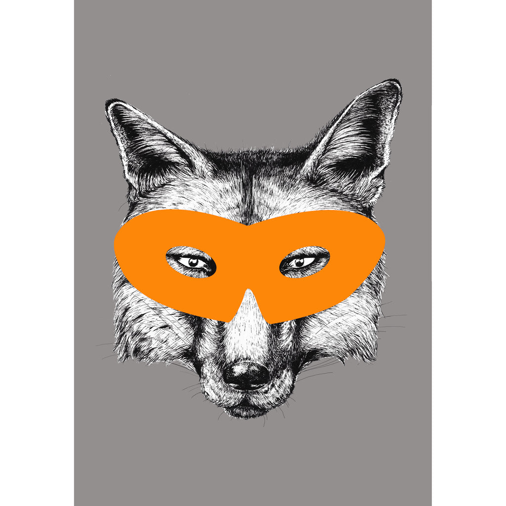 Superhero Fox Animal Print-A4 Print-Of Life & Lemons®