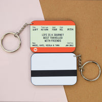 Personalised Train Ticket Friendship Keyring-Keyring-Of Life & Lemons®