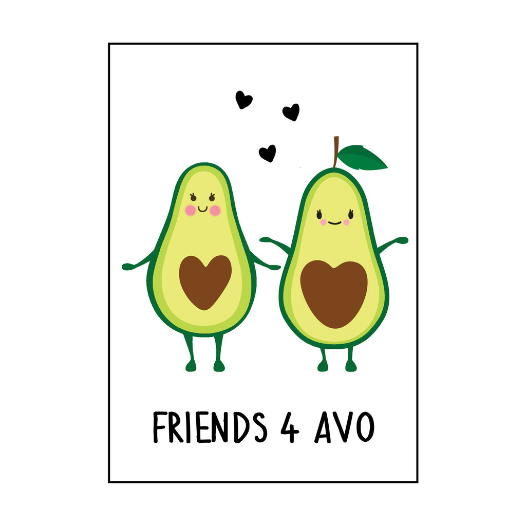 'Friends 4 Avo' Friendship Card