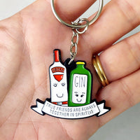 'Together in Spirits' Friendship Keyring-Of Life & Lemons®