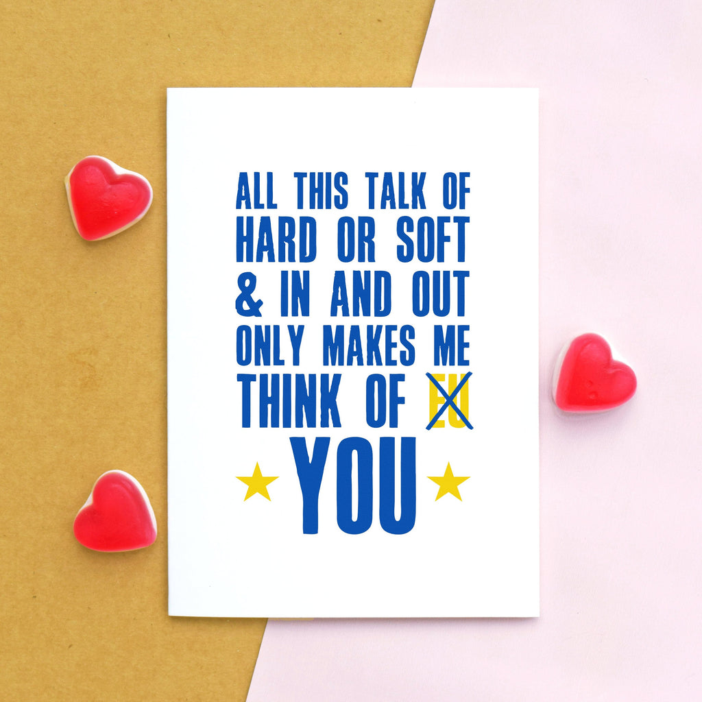Funny Brexit Valentine's Card-Of Life & Lemons®