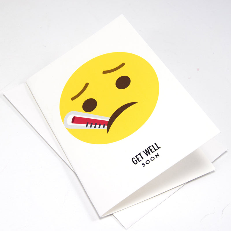 Emoji 'Get Well Soon' Card-Of Life & Lemons®