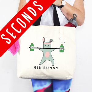 SLIGHT SECOND - 'Gin Bunny' Gym Bag-Tote Bag-Of Life & Lemons®