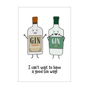 'Gin Wag' Card for Friend