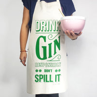 'Drink Gin' Apron-Aprons-Of Life & Lemons®