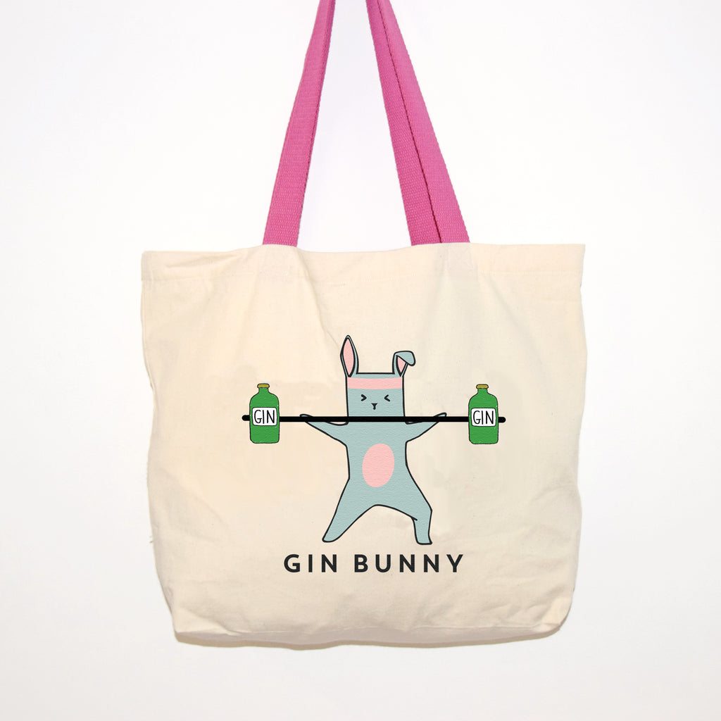 'Gin Bunny' Gym Bag-Tote Bag-Of Life & Lemons®
