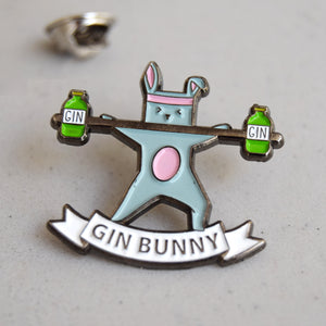'Gin Bunny' Enamel Pin Badge-Of Life & Lemons®