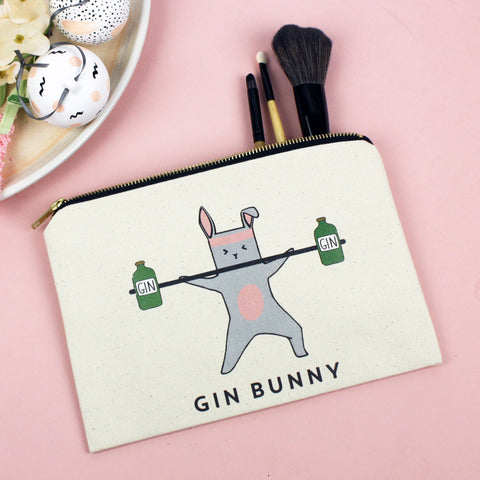 'Gin Bunny' Make Up Bag-Tote Bag-Of Life & Lemons®