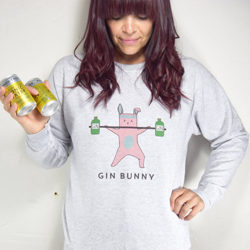 'Gin Bunny' Ladies Sweatshirt-Tote Bag-Of Life & Lemons®