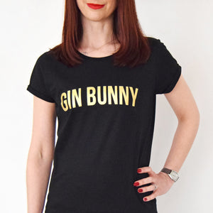 'Gin Bunny' Typographic Gin T-Shirt-Tote Bag-Of Life & Lemons®