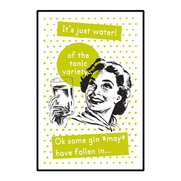 Retro Gin Print-A4 Print-Of Life & Lemons®