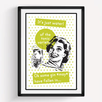 **DISCONTINUED** Retro Gin Print-A4 Print-Of Life & Lemons®