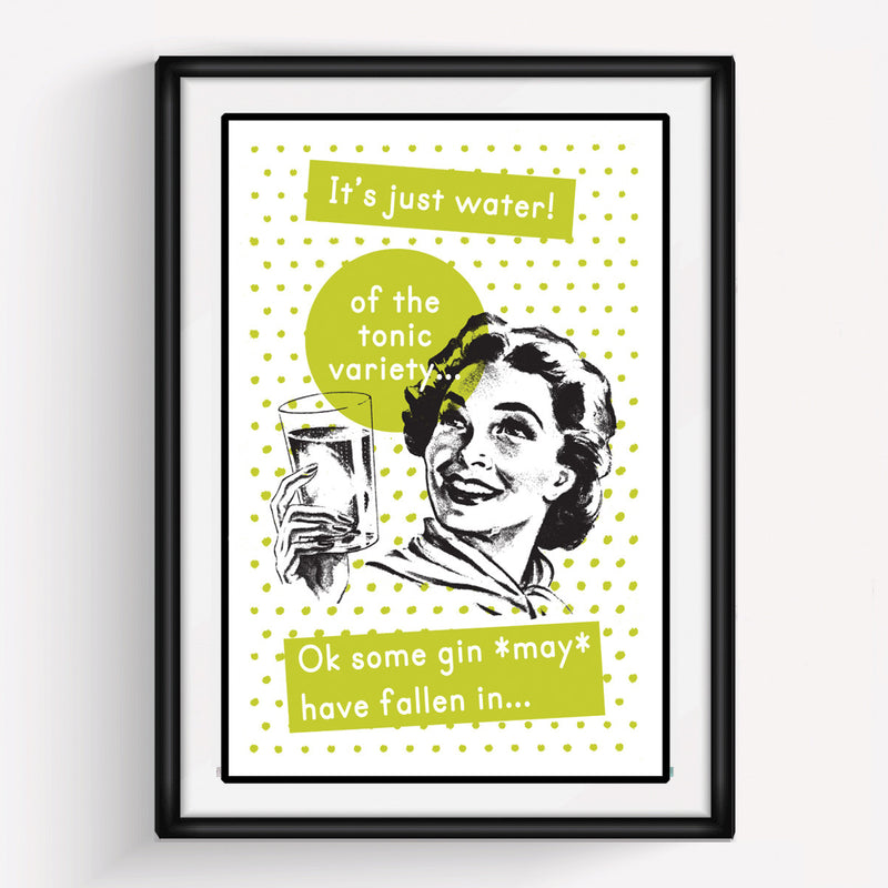DISCONTINUED Retro Gin Print-A4 Print-Of Life & Lemons®