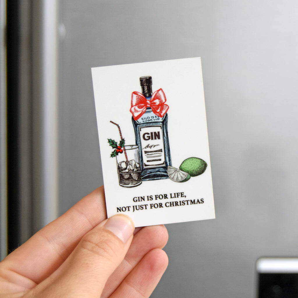 'Gin is For Life' Christmas Fridge Magnet-Of Life & Lemons®
