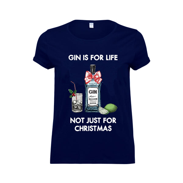 'Gin Is For Life' Christmas T-Shirt-Tote Bag-Of Life & Lemons®