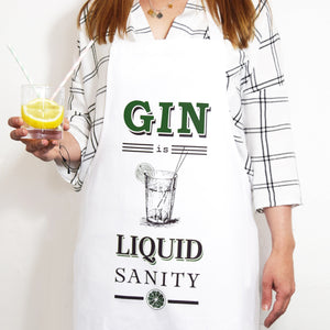 'Liquid Sanity' Gin Apron-Aprons-Of Life & Lemons®