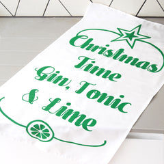 'Gin & Tonic' Christmas Tea Towel