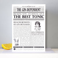 'The Gindependent' Personalised Birthday Card-A4 Print-Of Life & Lemons®