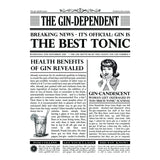 Personalised Newspaper Gin Print