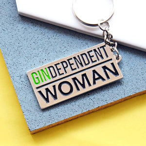 'GINdependent Woman' Keyring-Of Life & Lemons®