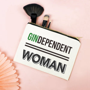 'Gindependent Woman' Gin Make up Bag-Tote Bag-Of Life & Lemons®