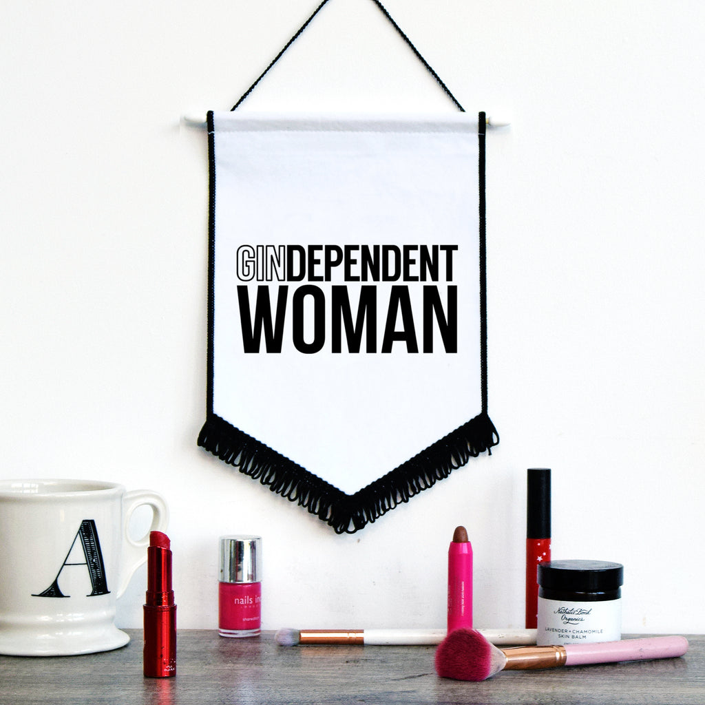 GINdependent Woman Wall Flag-Of Life & Lemons®