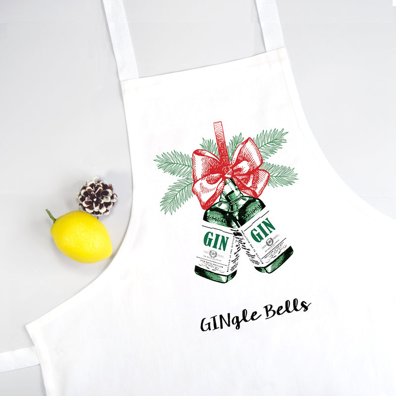 'Gingle Bells' Christmas Apron-Aprons-Of Life & Lemons®