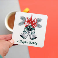 'GINgle Bells' Christmas Coaster-coaster-Of Life & Lemons®