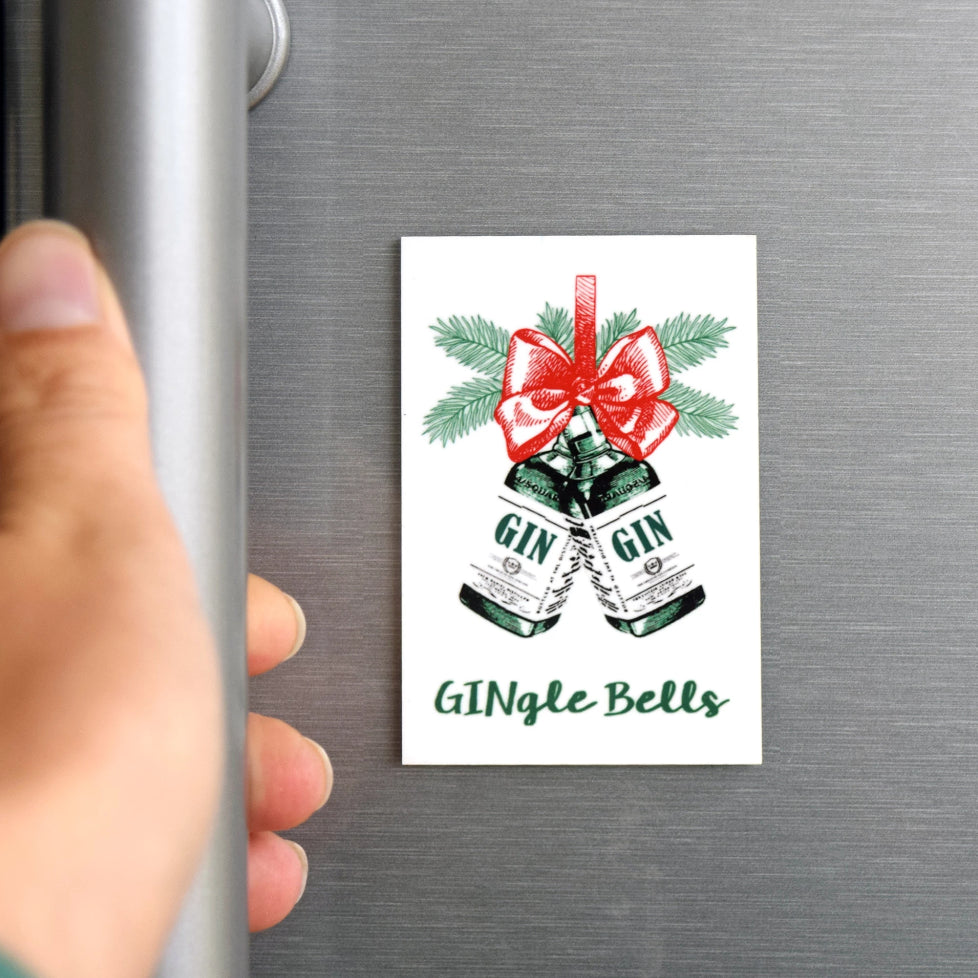 'GINgle Bells' Christmas Fridge Magnet-Of Life & Lemons®