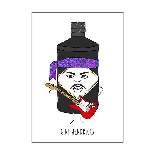 'Gini Hendricks' Gin Card-Of Life & Lemons®