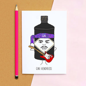 'Gini Hendricks' Gin Card