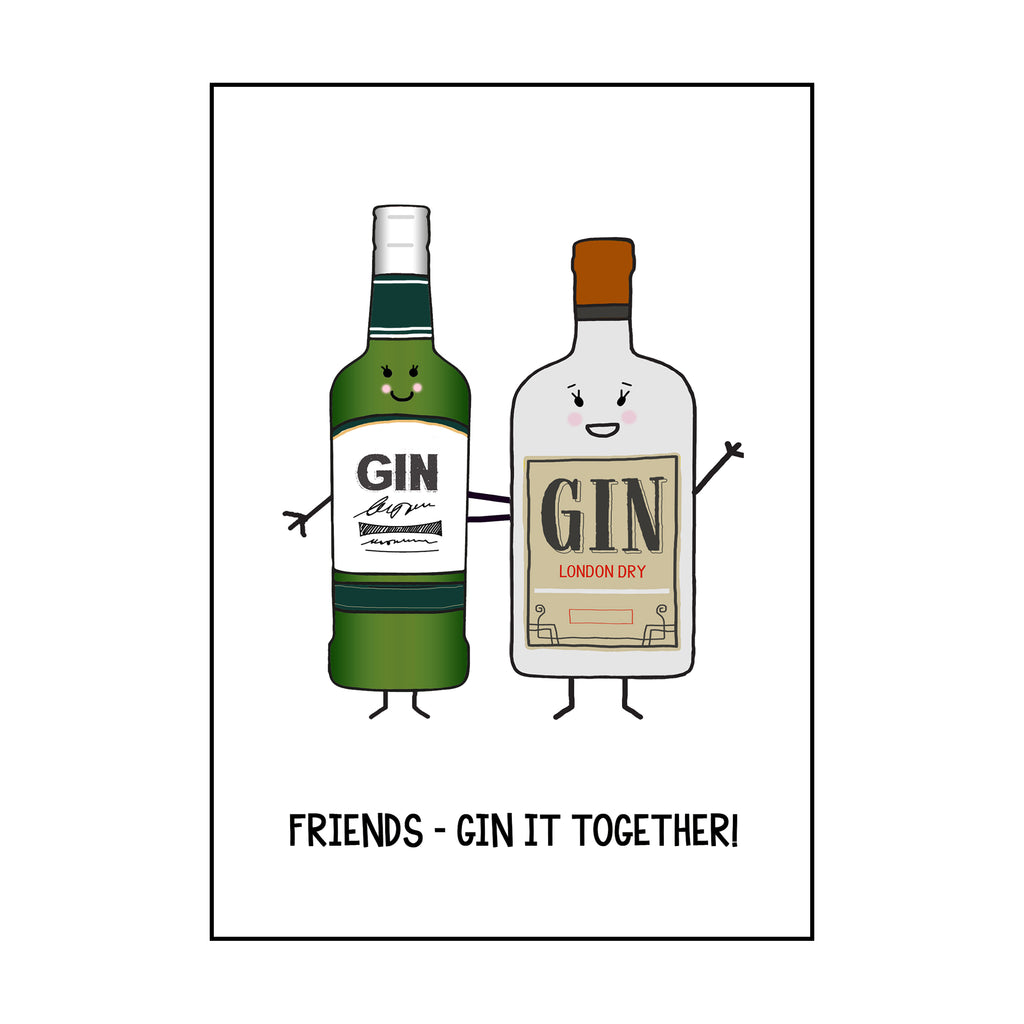 'Gin It Together' Card for Friend