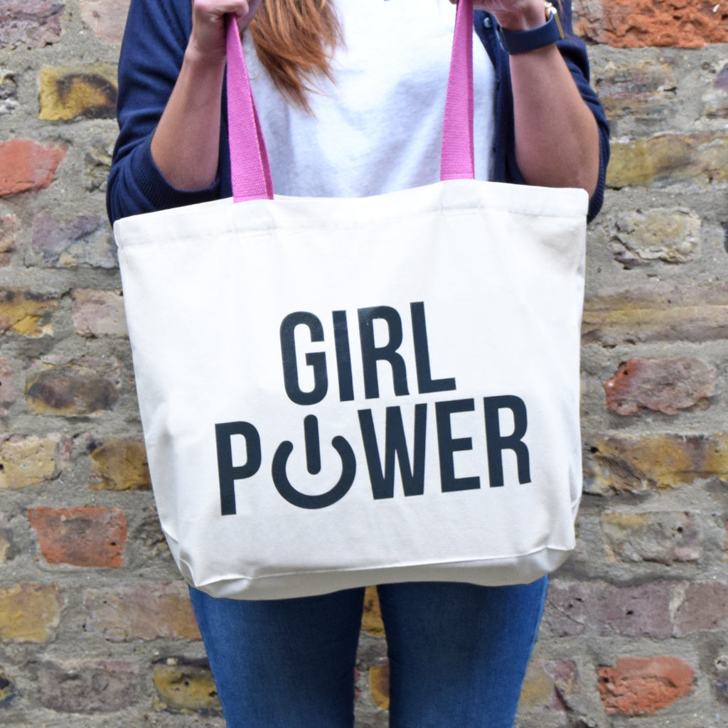 'Girl Power' Tote Bag-Tote Bag-Of Life & Lemons®