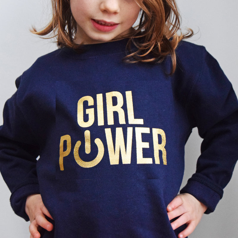 'Girl Power' Kids Sweatshirt-Of Life & Lemons®