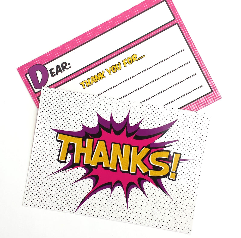 Superhero Thank You Cards-Of Life & Lemons®