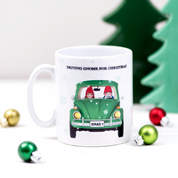 'Driving Gnome for Christmas' Mug-Of Life & Lemons®
