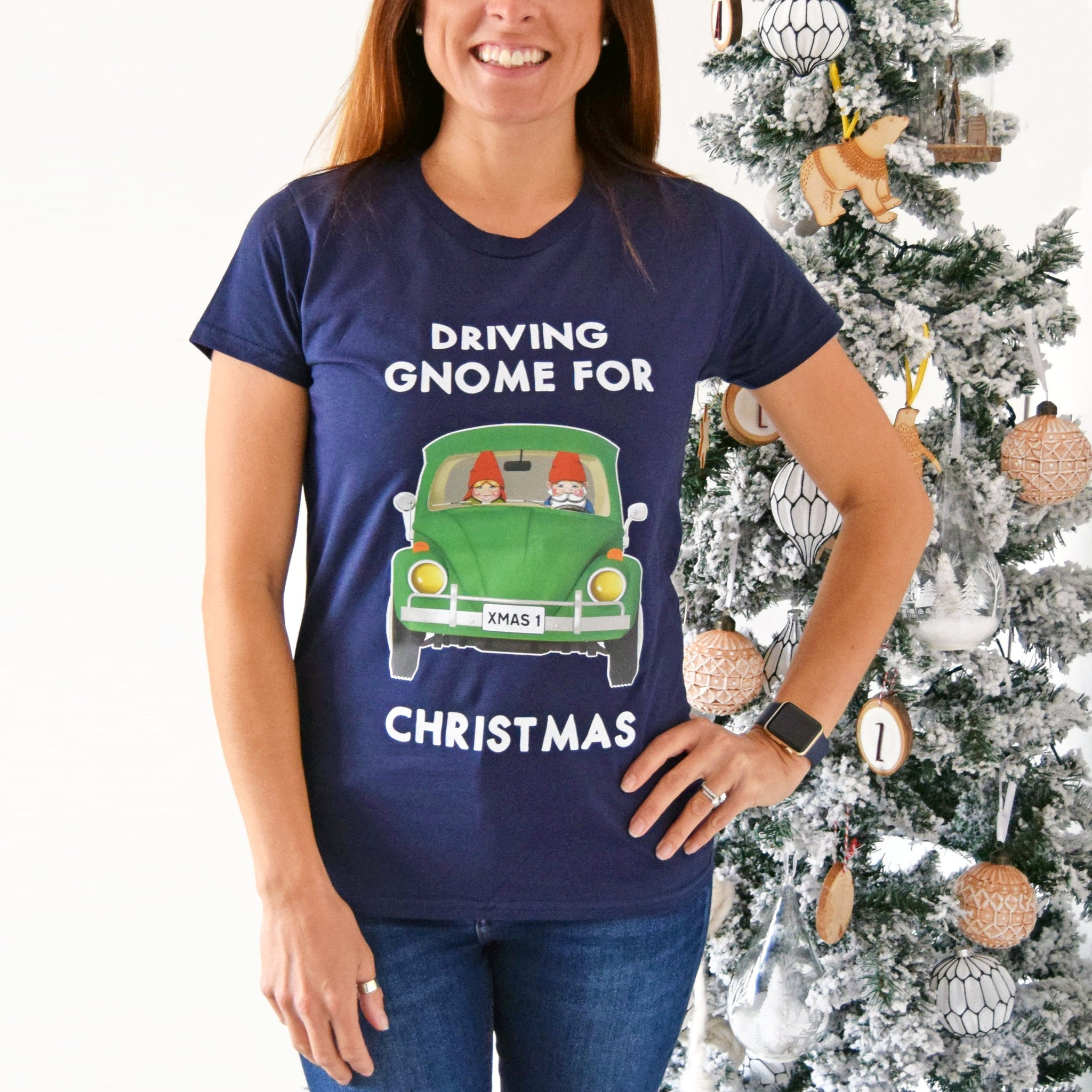 Driving Gnome for Christmas T-Shirt