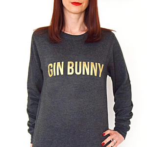 Gold 'Gin Bunny' Sweatshirt-Tote Bag-Of Life & Lemons®