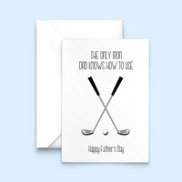 Funny Golf Father's Day Card