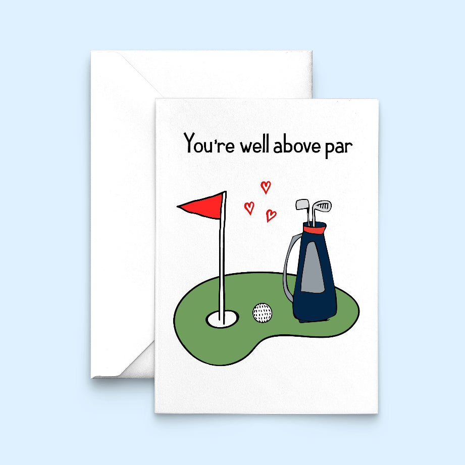 Funny Golf Valentine's Card